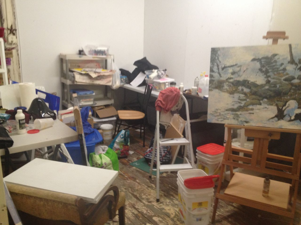 Studio facing the back wall.
