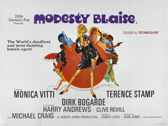 Figure 4 - Modesty Blaise movie poster
