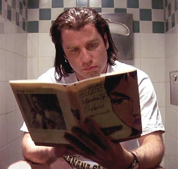 Figure 6 - Vincent Vega (John Travolta) Reads Modesty Blaise First Edition