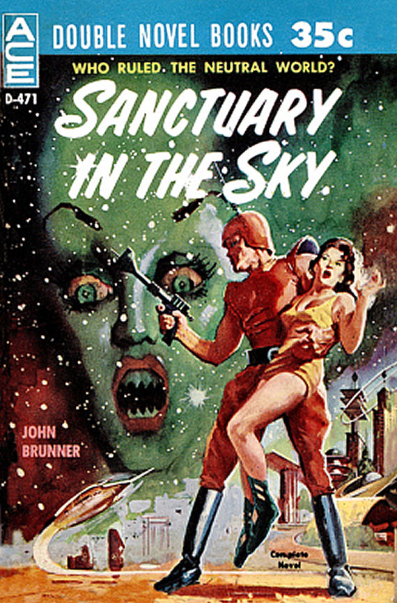 Figure 8 - D-471 - John Brunner - Sanctuary in the Sky by Basil Gogos