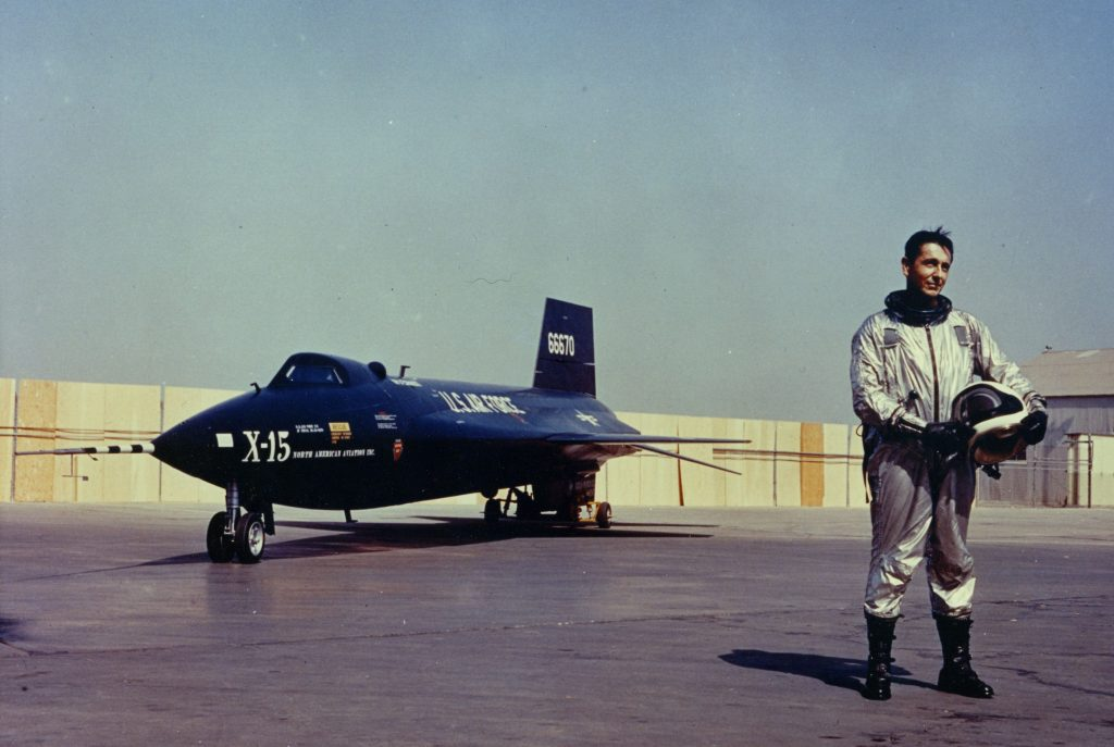 Scott Crossfield with North American Aviation X-15