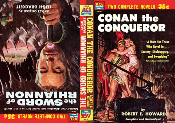 Figure 2 Ace D-36, Conan the Conqueror and Sword of Rhiannon