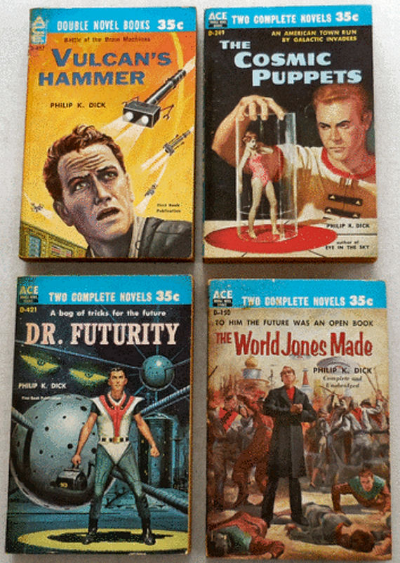 Figure 5 - Four Philip K. Dick Ace Doubles For Sale