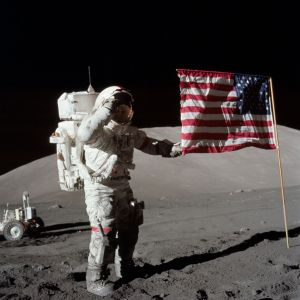 Gene Cernan And The Last Flag On The Moon