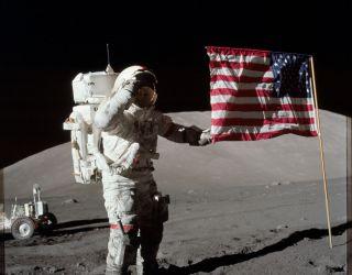 Gene Cernan And The Last Flag On The Moon