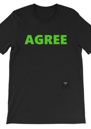 TownHall Protest T's Agree/Disagree Shirt (unisex/black)