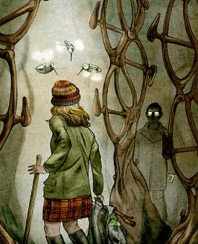 Jonathan Burton's illustration for Ken MacLeod's story, 'The Bicycle-Frame Tree Plantation Manager's Redundancy'