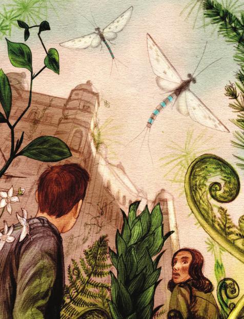Jonathan Burton's art for Stephen Palmer's 'You Bringers of Oxygen'