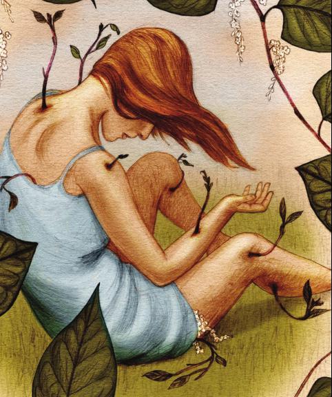 Jonathan Burton's art for Lisa Tuttle's 'Vegetable Love'