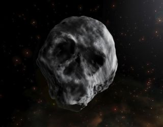 Incredibly creepy skull-shaped asteroid is going to cruise by Earth next year