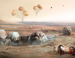 Here's what future Mars and lunar space colonies could look like