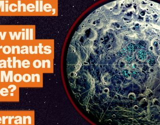How Moon ice creates breathable air and rocket fuel