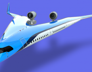 """New """"Flying-V"""" Plane Puts Passenger Seats in the Wings"""